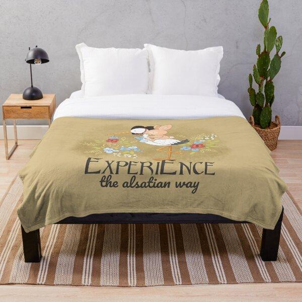 Experience the Alsatian way Throw Blanket