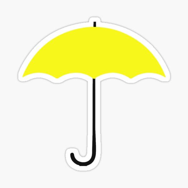 Yellow umbrella Pegatina