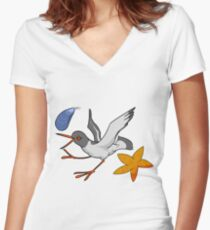 Oystercatchers Everywhere! Women's Fitted V-Neck T-Shirt
