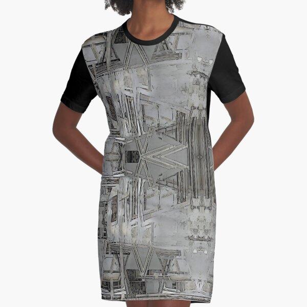 Lisbon Facade Remixed Graphic T-Shirt Dress