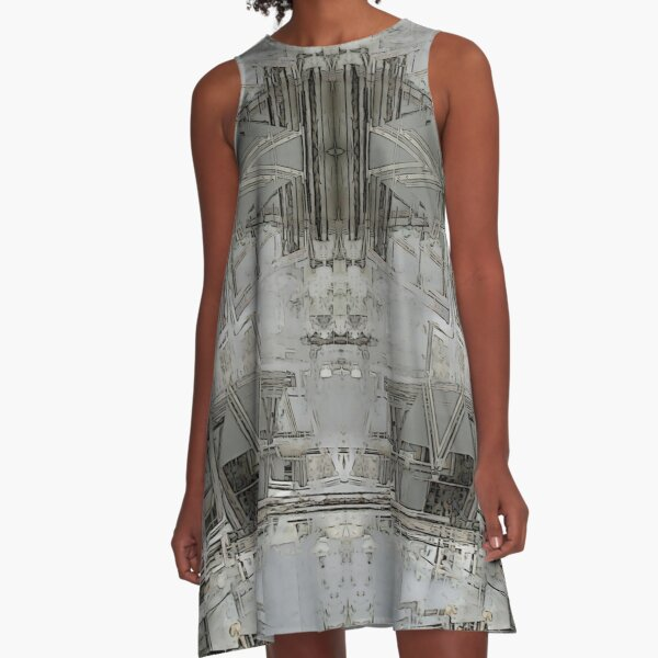 Lisbon Facade Remixed A-Line Dress