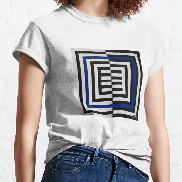 WHITE BLUE SQUARES OF ESONE ABSTRACT URBAN GRAFFITI STREET STYLE Classic T-Shirt