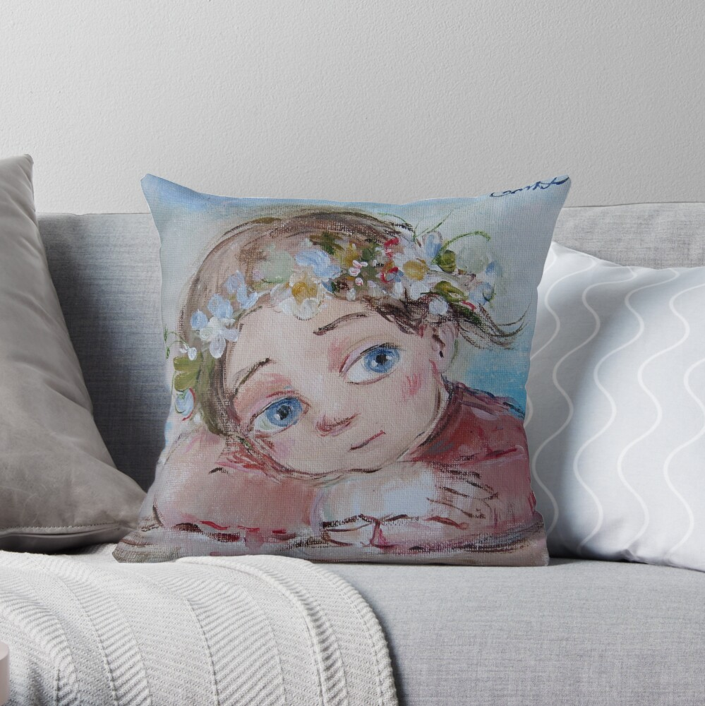 Spring Throw Pillow By Nocha Redbubble