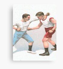 Vintage Boxing Manual Art Canvas Print