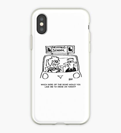 Driving Lesson - Which side of the road? iPhone Case