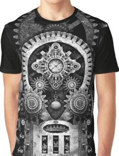 Infernal Steampunk Vintage Machine #2B Monochrome Version Graphic T-Shirt