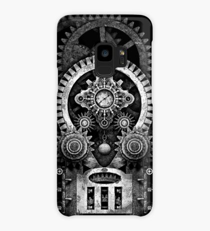 Infernal Steampunk Vintage Machine #2B Monochrome Version Case/Skin for Samsung Galaxy