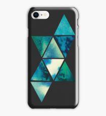 Watercolour geometric ocean case iPhone Case/Skin