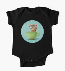 Kitten in a big cup One Piece - Short Sleeve