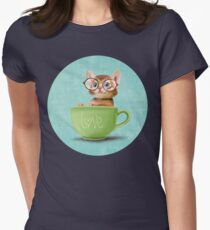 Kitten in a big cup Womens Fitted T-Shirt