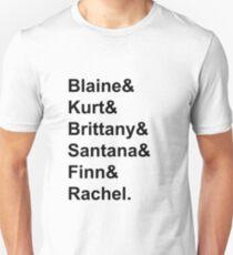 Glee Main Characters T-Shirt Unisex T-Shirt