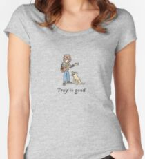 Trey is good. Women's Fitted Scoop T-Shirt