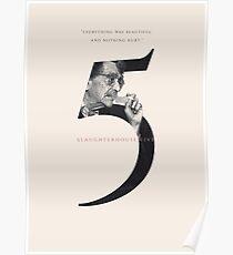 Slaughterhouse Five, Kurt Vonnegut Poster