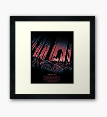 Stranger Things Run Framed Print