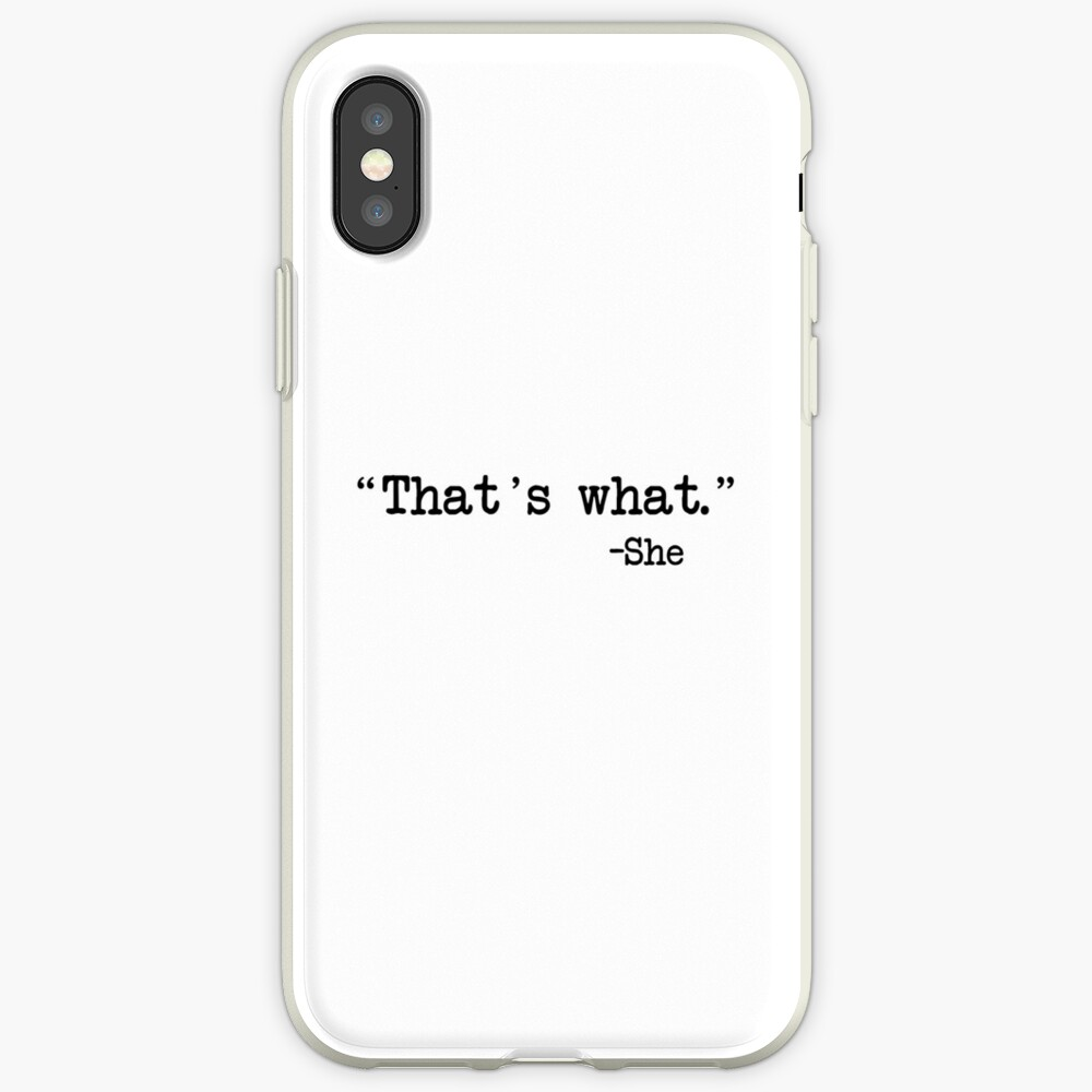 Eso es lo que ella dijo Funda y vinilo para iPhone