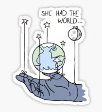 She Had The World Lyrics Sticker