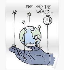 She Had The World Lyrics Poster
