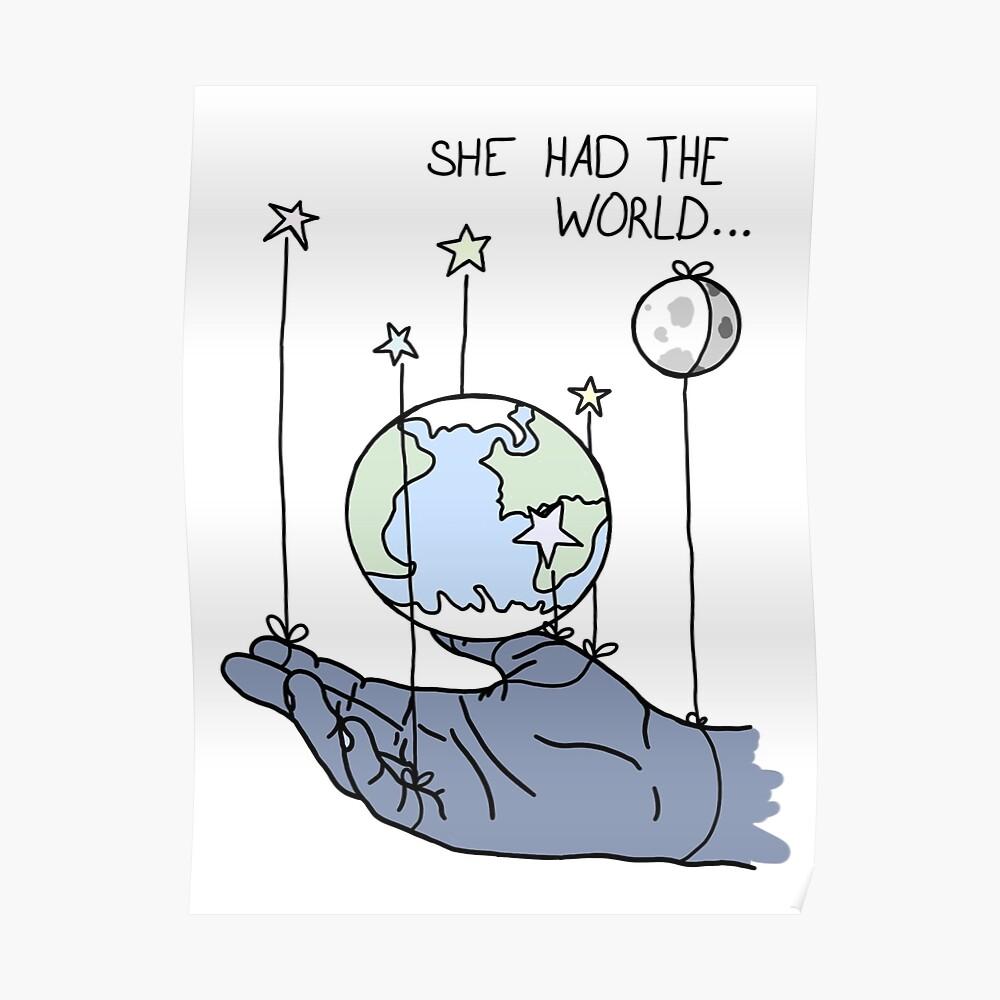 Sie hatte die Welt Lyrics Poster