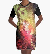 Dawnsing Wood Fox im Aquarell T-Shirt Kleid