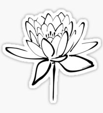 Lotus Flower Calligraphy (Black) Sticker