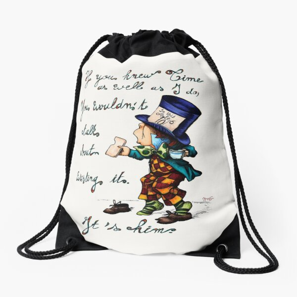 The Mad Hatter, Alice in Wonderland Drawstring Bag