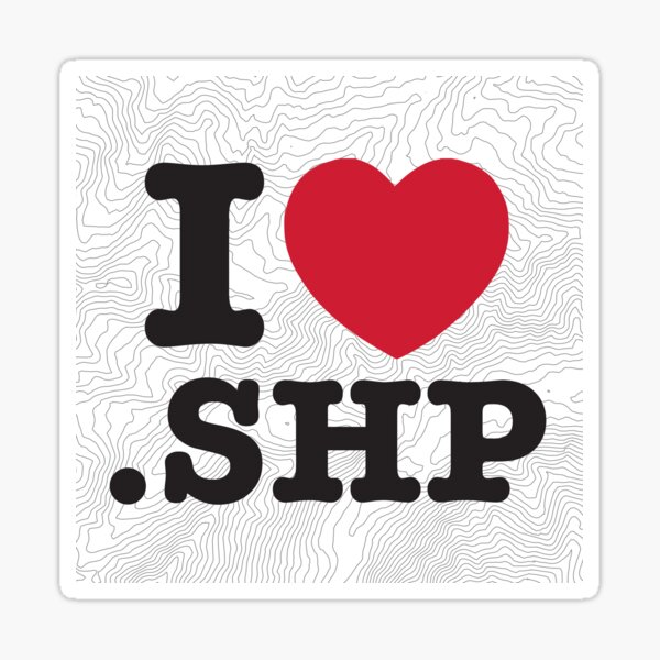 I love shapefile geo contours Sticker