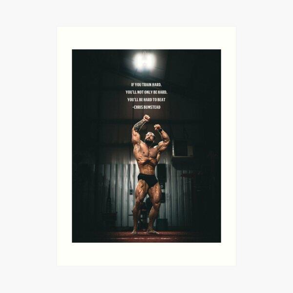 Chris Bumstead Gym Motivation Poster Wall Art Art Print