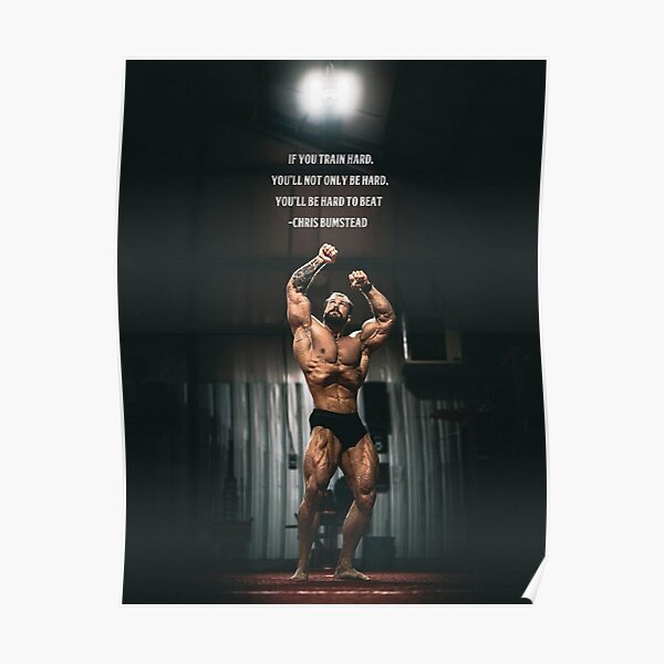 Chris Bumstead Gym Motivation Poster Wall Art Poster