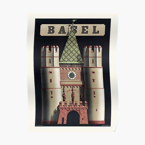Basel Switzerland Vintage Poster 1939 Poster