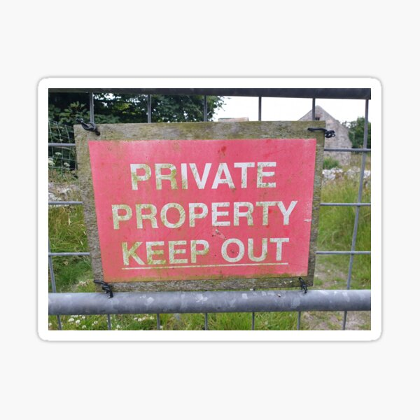 Private Property Keep Out Sticker