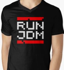 RUN JDM (2) Mens V-Neck T-Shirt