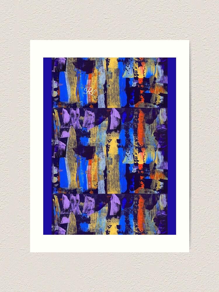 Alternate view of Purple Abstract Art Print