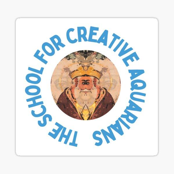 Be a Creative Aquarian Sticker
