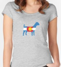 Boer Goat: Colorado Hometown Series Women's Fitted Scoop T-Shirt