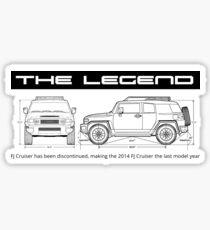 THE LEGEND FJ Sticker