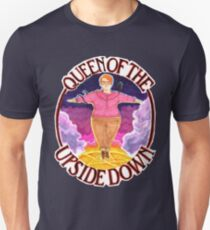 Barb Queen of The Upside Down Stranger Things White Outline Unisex T-Shirt