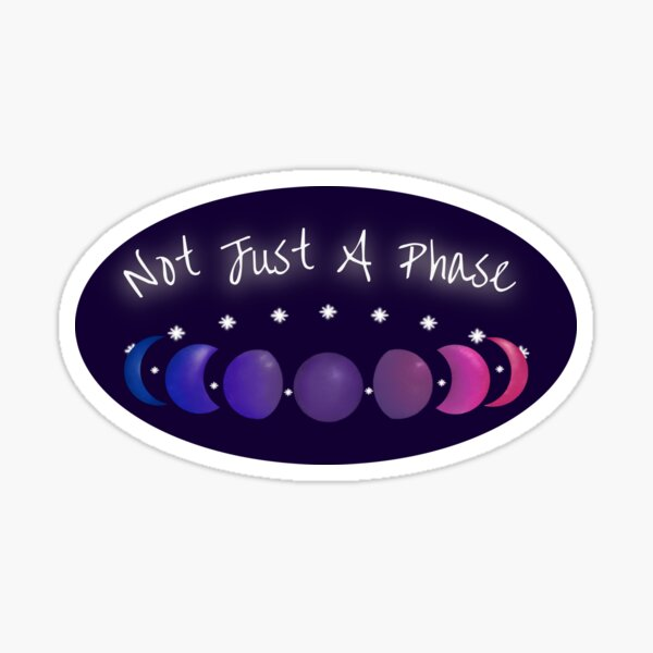 Not Just a Phase Bisexual Pride with Text Sticker