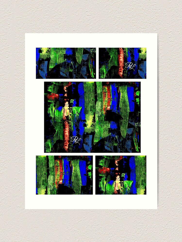 Alternate view of Glitch Abstract Art Print