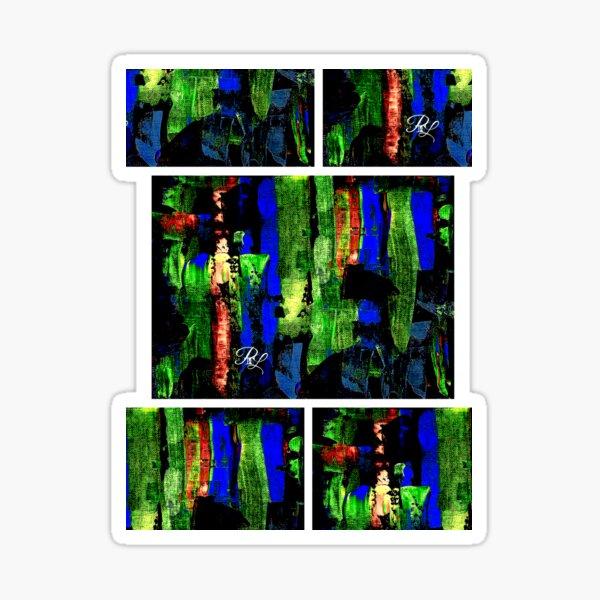 Glitch Abstract Sticker
