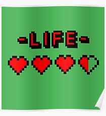 8-bit gamer lifebar Poster