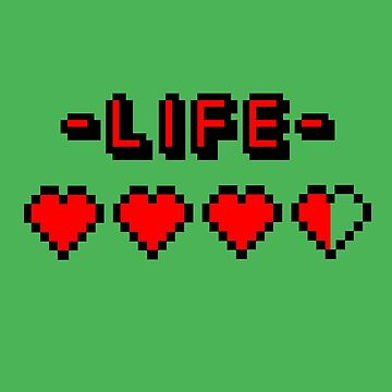 8-bit gamer lifebar von badbugs