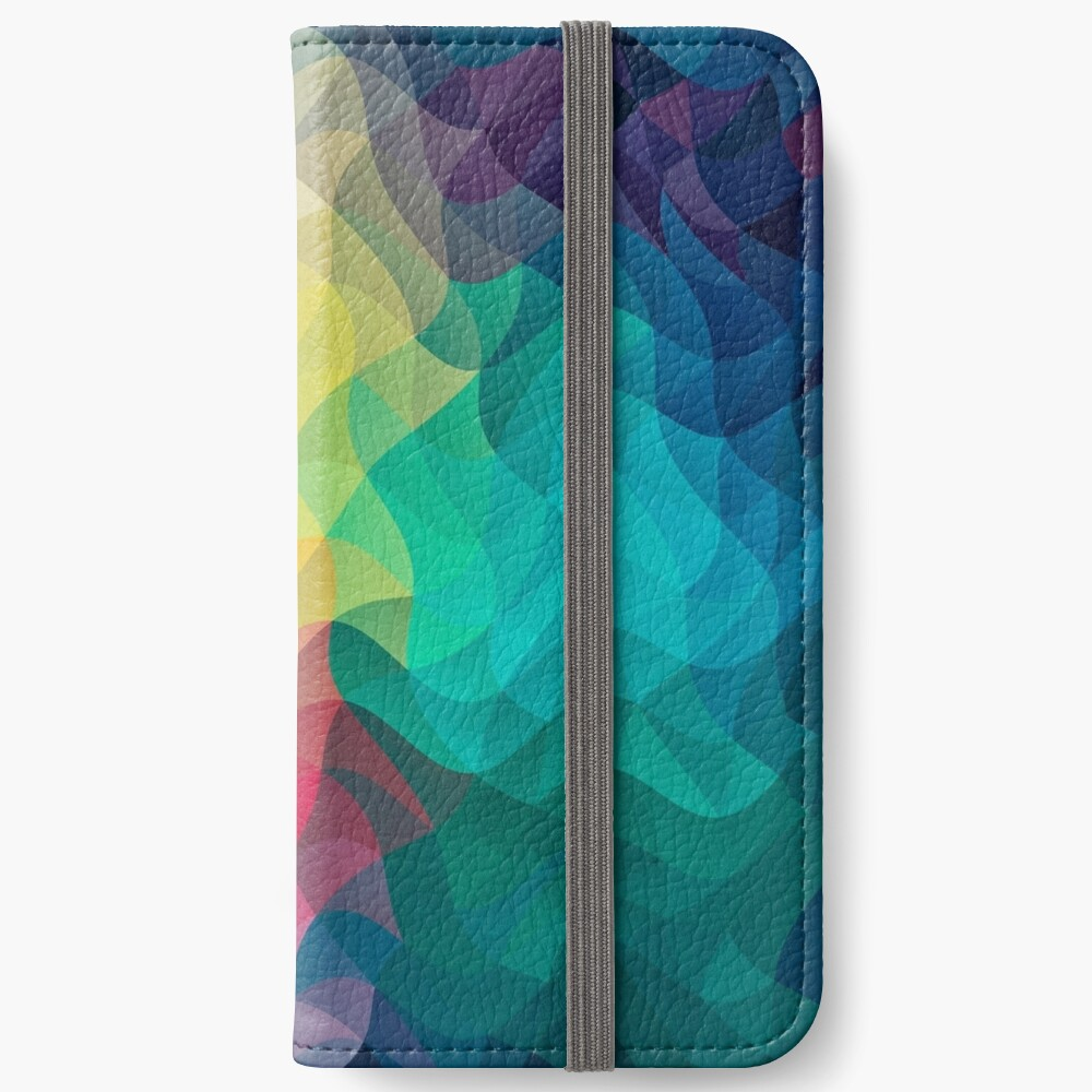 Abstract Color Wave Flash iPhone Flip-Case