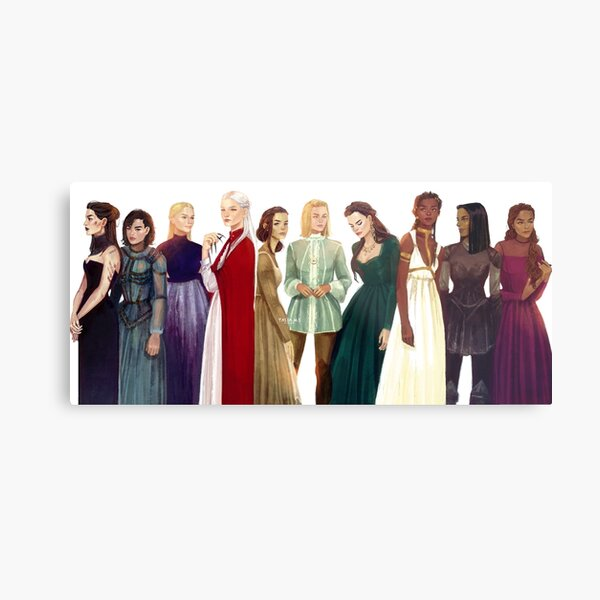 Women from Throne of Glass Metal Print