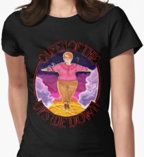 Barb Queen of The Upside Down Stranger Things Black Outline Women's Fitted T-Shirt