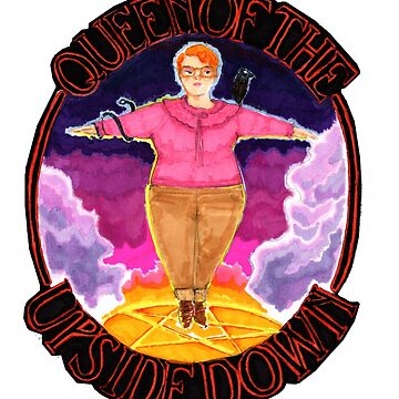 Barb Queen of The Upside Down Stranger Things Black Outline by loveandmonsters