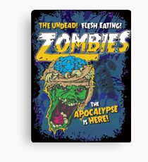 Zombies Everywhere! Canvas Print