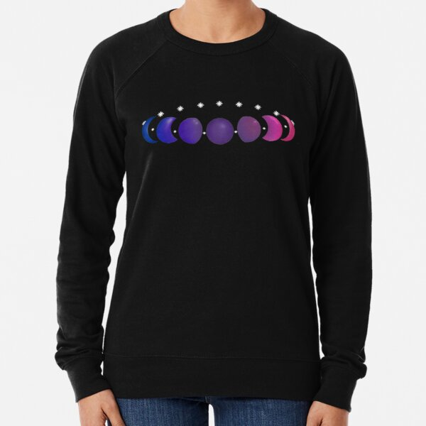 Not Just a Phase Bisexual Pride without Text Lightweight Sweatshirt