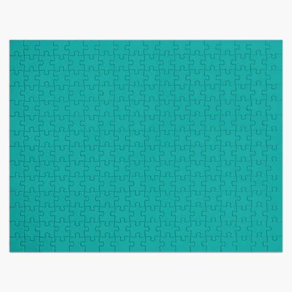 Teal | Teal Green | Solid Color |  Jigsaw Puzzle