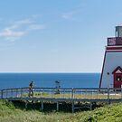 Fox Point Lighthouse, Newfoundland, Canada by Gerda Grice