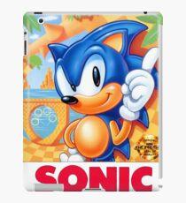 Sega Genesis Sonic The Hedgehog Video Game Cover  iPad Case/Skin